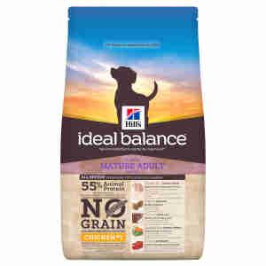 Croquettes Hill's Ideal Balance sans céréales pour chiens matures