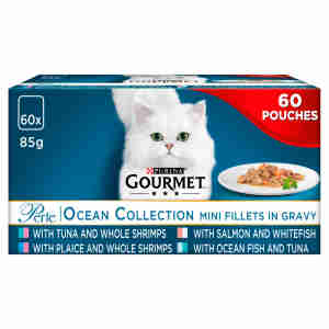 Gourmet Perle Adult Mini Fillets Cat Pouches