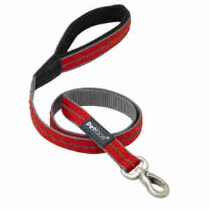 Petface Signature Padded Dog Lead in Red