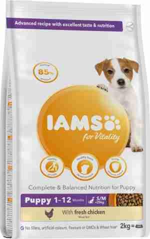 IAMS for Vitality Small/Medium Breed Puppyvoer met Kip