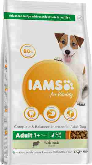 IAMS for Vitality Adult Dog Food Small & Medium Breed with Lamb