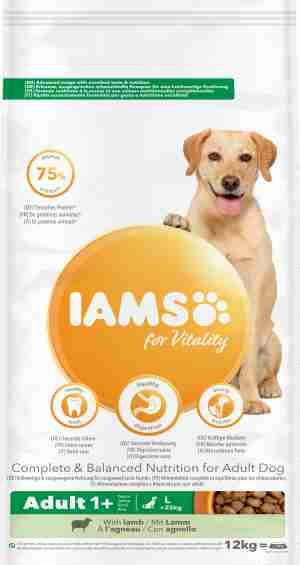 IAMS for Vitality Adult Dog Food Large Breed with Lamb
