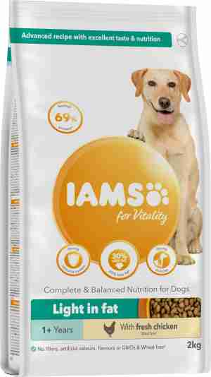 IAMS for Vitality Adult Dog Food Light in Fat with Chicken