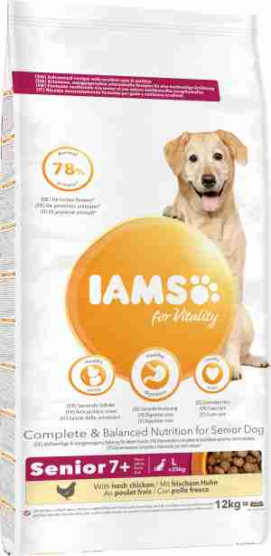 IAMS for Vitality Senior Dog Food Large Breed with Chicken
