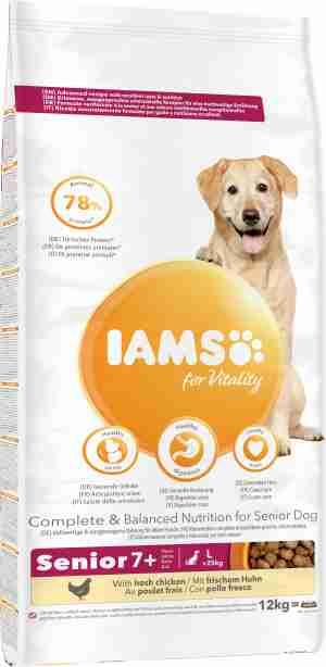 IAMS for Vitality Senior Large Breed Hondenvoer met Kip