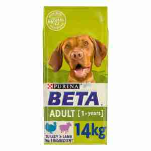 BETA Adult Dry Dog Food with Turkey & Lamb 14kg