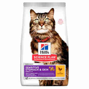 Hill's Science Plan Feline Adult 1+ Sensitive Stomach & Skin Chicken