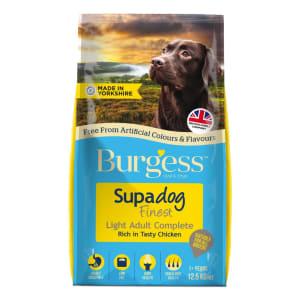 Burgess Supadog Light Adult Complete Dry Dog Food - Chicken