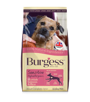 Burgess Sensitive Adult Complete Dry Dog Food - Salmon & Rice