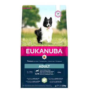 Eukanuba Small & Medium Breed Adult Dry Dog Food - Lamb & Rice