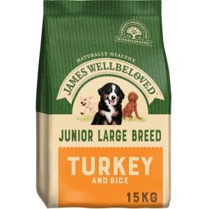 James Wellbeloved Large Junior Dry Dog Food - Turkey & Rice