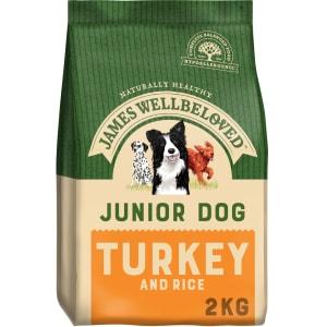 James Wellbeloved Medium and Large Junior Dry Dog Food - Turkey & Rice