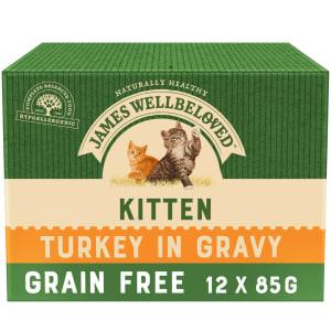 James Wellbeloved Grain Free Kitten Cat Wet Food Pouch - Turkey