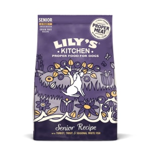 Lily's Kitchen Senior Recipe with Grain Free Dry Dog Food - Turkey Trout & White Fish
