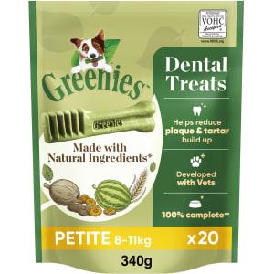 Greenies Adult Dental Dog Chews Treat - Petite