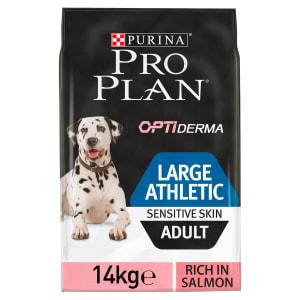 Purina Pro Plan Opti Derma Sensitive Skin Large Athletic Adult Dry Dog Food - Salmon