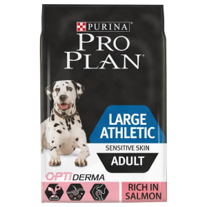 Purina Pro Plan Optiderma Athletic Grote volwassen hond droogvoer voor de gevoelige huid (zalm)