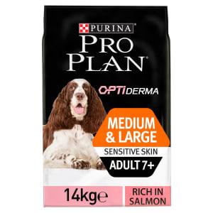 Purina Pro Plan Opti Derma Sensitive Skin Medium/Large Adult 7+ Dry Dog Food - Salmon