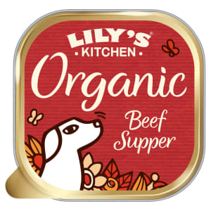 Lily's Kitchen Organic Adult Wet Dog Food - Beef Supper with Carrots & Peas