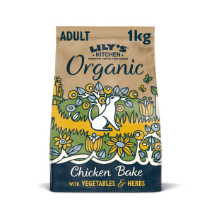Lily's Kitchen Organic Adult Dry Dog Food - Chicken Bake with Vegetables & Herbs