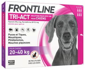 Frontline Tri Act pour Grand Chien (20-40kg)