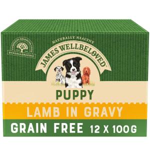 James Wellbeloved Grain Free Puppy Wet Dog Food Pouches - Lamb in Gravy