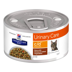 Hill's Prescription Diet Urinary Care c/d Multicare Adult Wet Cat Food - Stew with Chicken & Vegetables