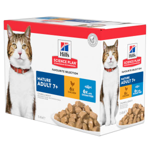 Hill's Science Plan Mature Adult 7+ Cat Food Pouch