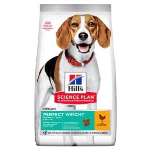 Hill's Science Plan Perfect Weight Medium Adult 1+ Dry Dog Food - Chicken