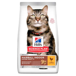 Hill's Science Plan Mature Adult Hairball Indoor Dry Cat Food Poulet
