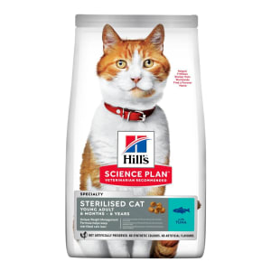 Hill's Science Plan Sterilised Young Adult Dry Cat Food - Tuna
