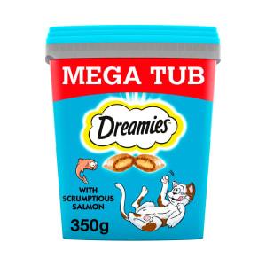Dreamies Cat Treats Mega Tub - Salmon & Tuna