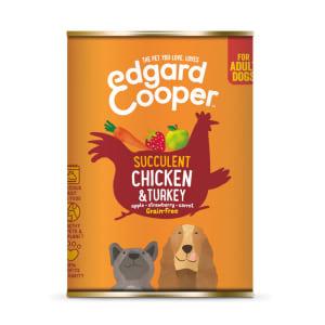 Edgard & Cooper Grain Free Adult Tin Wet Dog Food - Chicken & Turkey