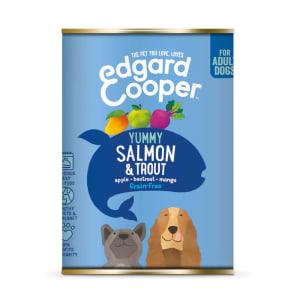 Edgard & Cooper Yummy Grain Free Adult Wet Dog Food Tin - Salmon & Trout