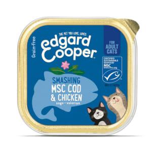 Edgard & Cooper Grain Free Smashing Adult Wet Cat Food Cup - MSC Cod & Chicken