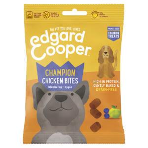 Edgard & Cooper Grain Free Champion Chicken Bites Dog Treat - Blueberry & Apple