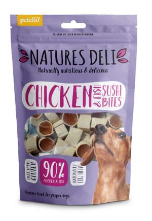 Natures Deli Sushi Bites Adult Dog Treats - Chicken & Fish
