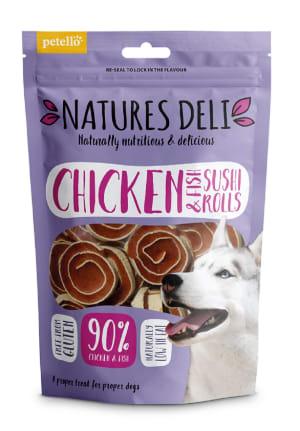 Natures Deli Sushi Rolls Adult Dog Treats - Chicken & Fish