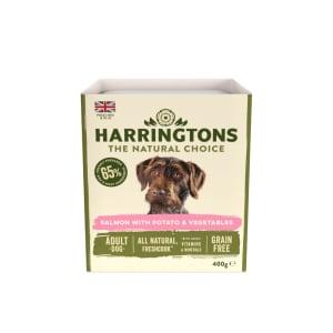 Harringtons Adult Wet Dog Food - Salmon with Potato & Vegetables