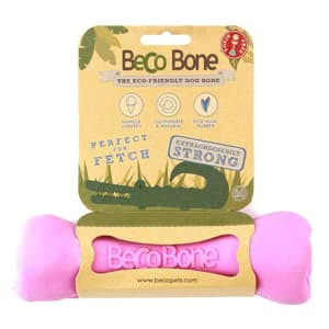 Beco Pets Bone Dog Toy in Pink