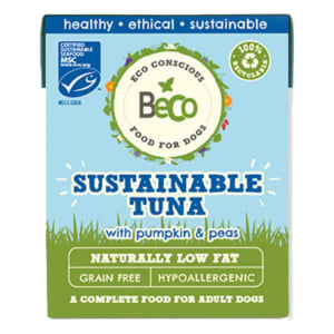 Beco Pets Eco-Conscious Adult Wet Dog Food - Sustainable Tuna with Pumpkin & Peas