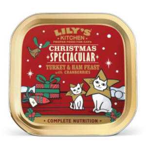 Lily's Kitchen Christmas Adult Wet Cat Food - Turkey & Ham Feast