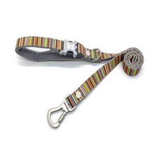 Hugo & Hudson Multicoloured Dog Striped Lead