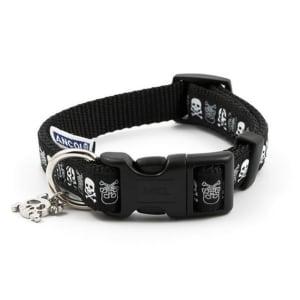 Ancol Skull Fashion Dog Collar in Black
