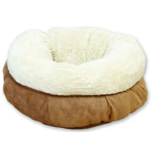 All For Paws Donut Cat Bed in Brown & Cream