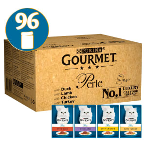 Gourmet Perle Country Adult Mini Fillets Pouches Wet Cat Food - Mixed Selection