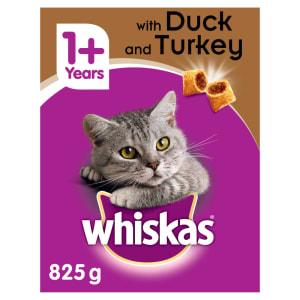 Whiskas Adult 1+ Complete Dry Cat Food - Duck & Turkey