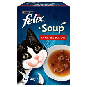 Felix Soup Adult Wet Cat Food - Farm Selection
