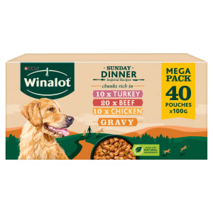 Winalot Sunday Dinner Adult Wet Dog Food Pouches - Mixed Selection in Gravy