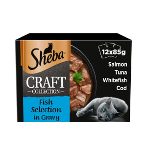 Sheba Craft Collection Adult 1+ Wet Cat Food Pouches - Fish Selection in Gravy